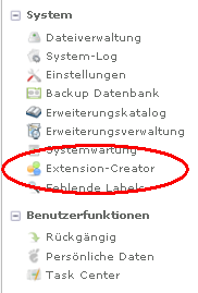 Backend - Extension Creator
